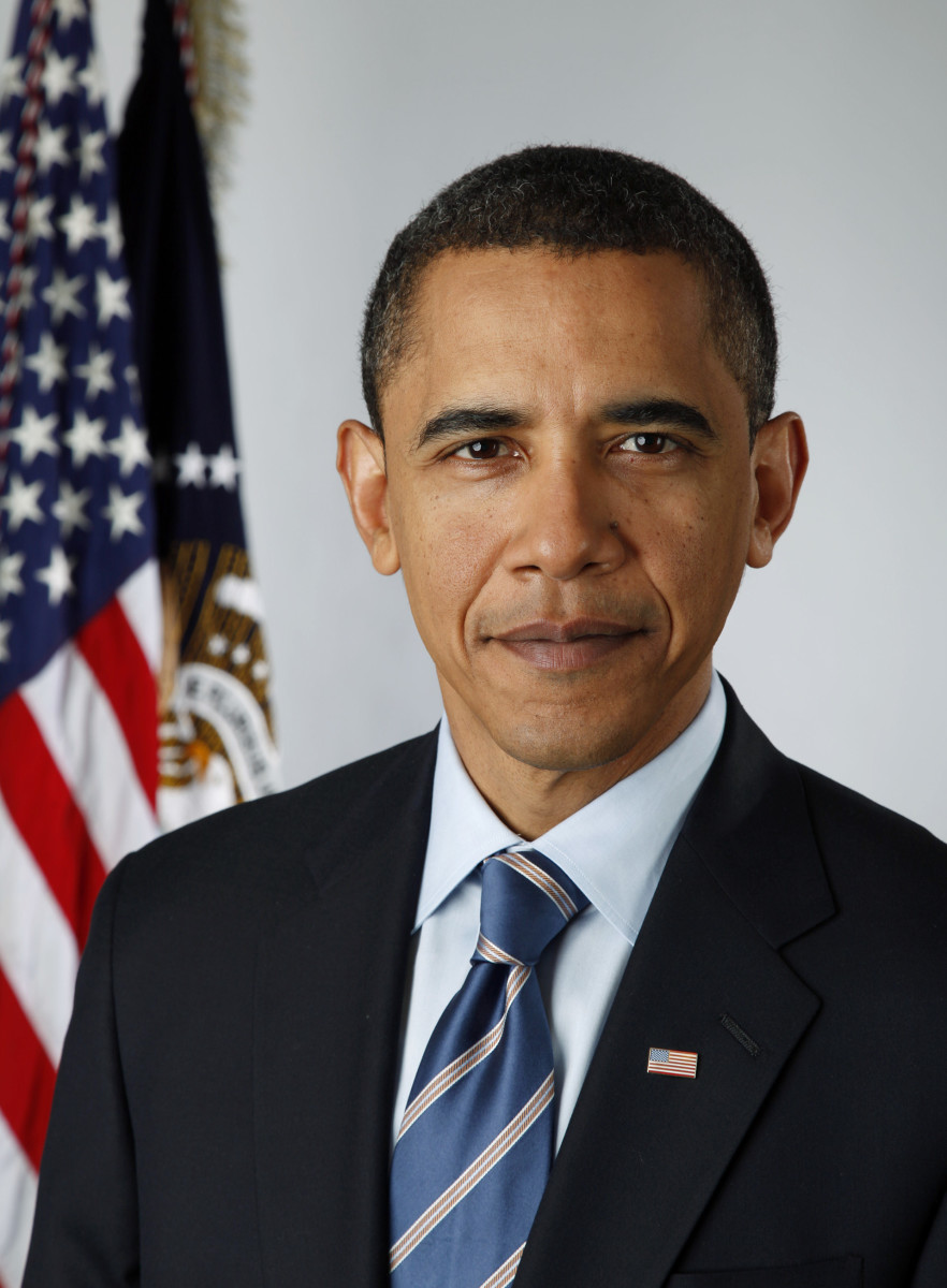A portrait of Barack Obama.