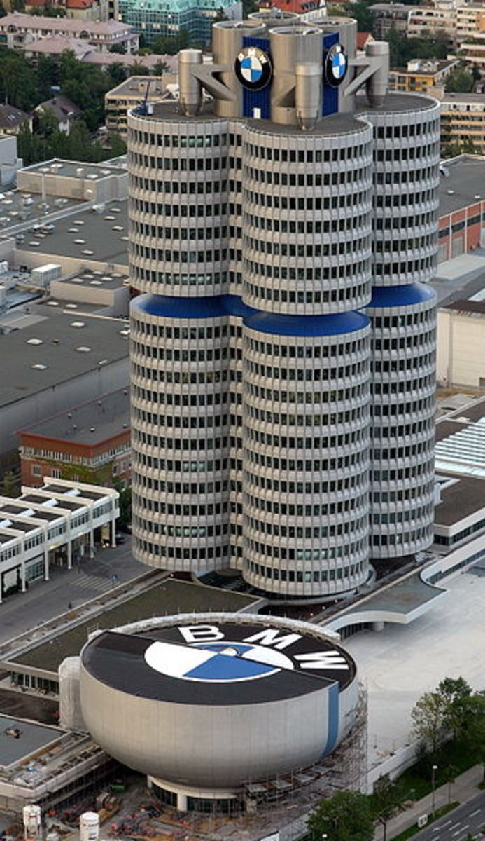 BMW headquarters. (Bayerish Motor Werkes)