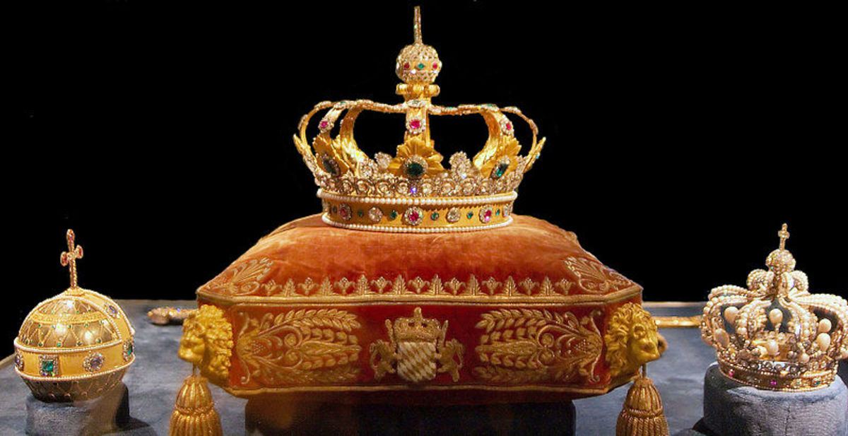 The Crown Jewels on display at the Residenz.