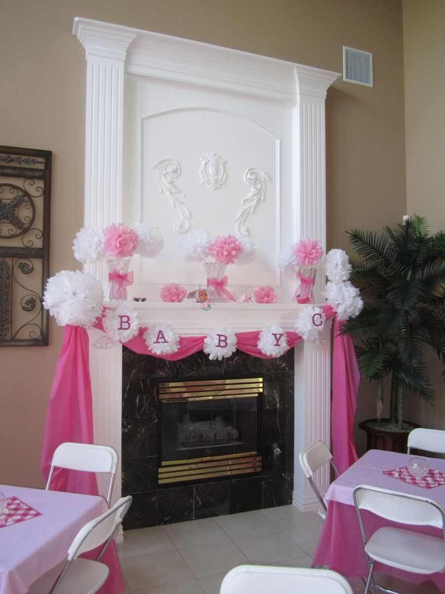 Simple pink & white trim.