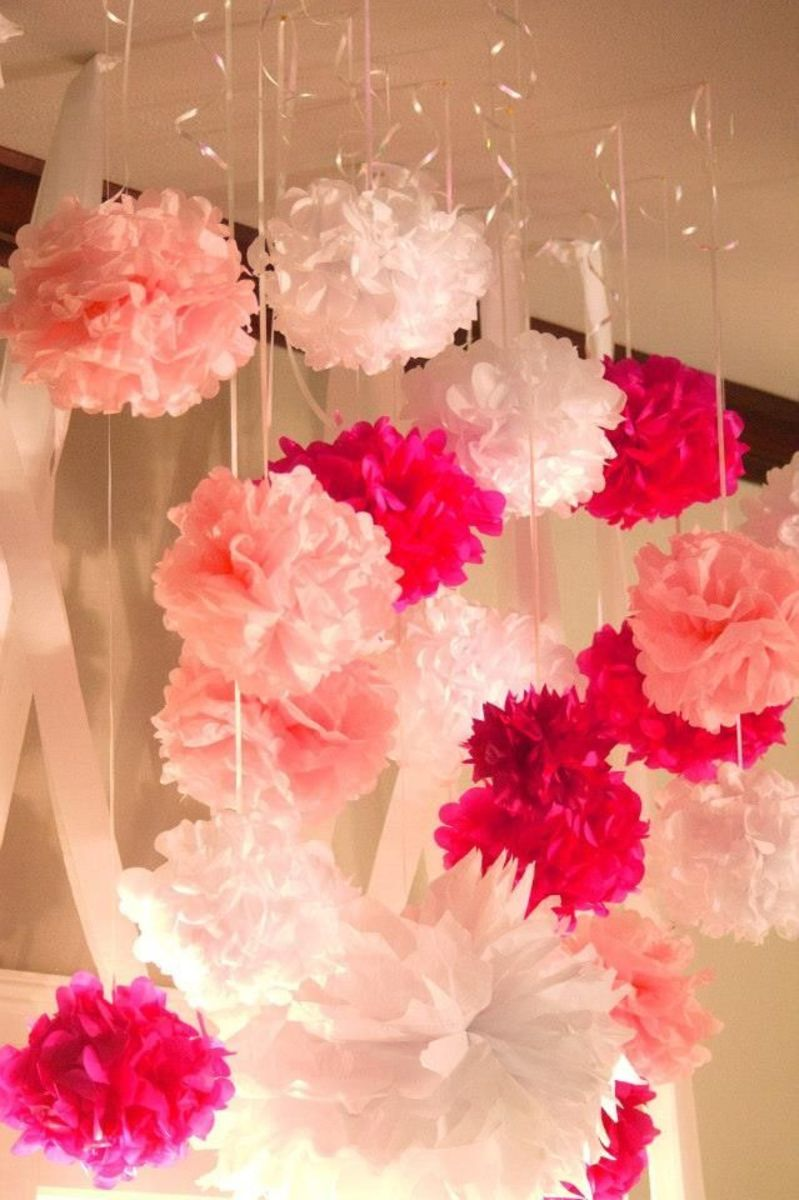 Pink pom-poms.