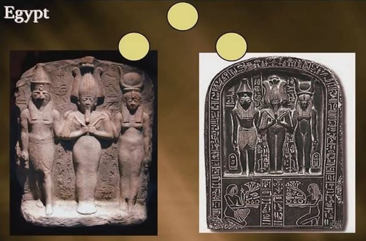 Osiris, Horus and Isis