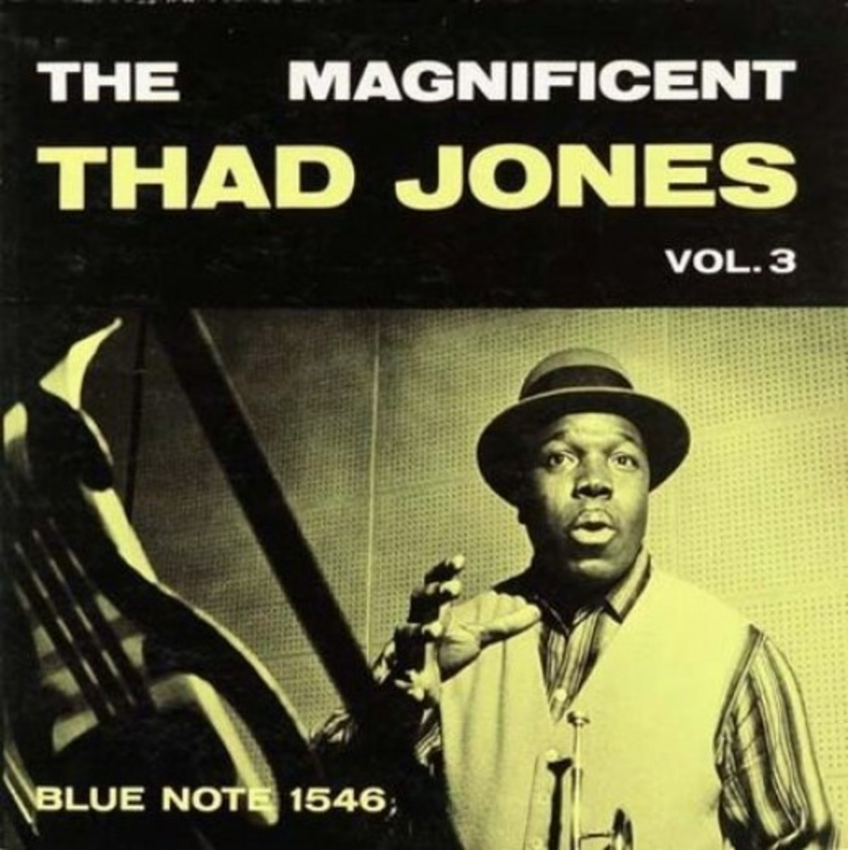 "Thad Jones ""The Magnificent Thad Jones, vol. 3"" Blue Note Records BLP 1546 12"" LP Vinyl Record (1957) Album Cover Design by Reid Miles Photo by Francis Wolff"