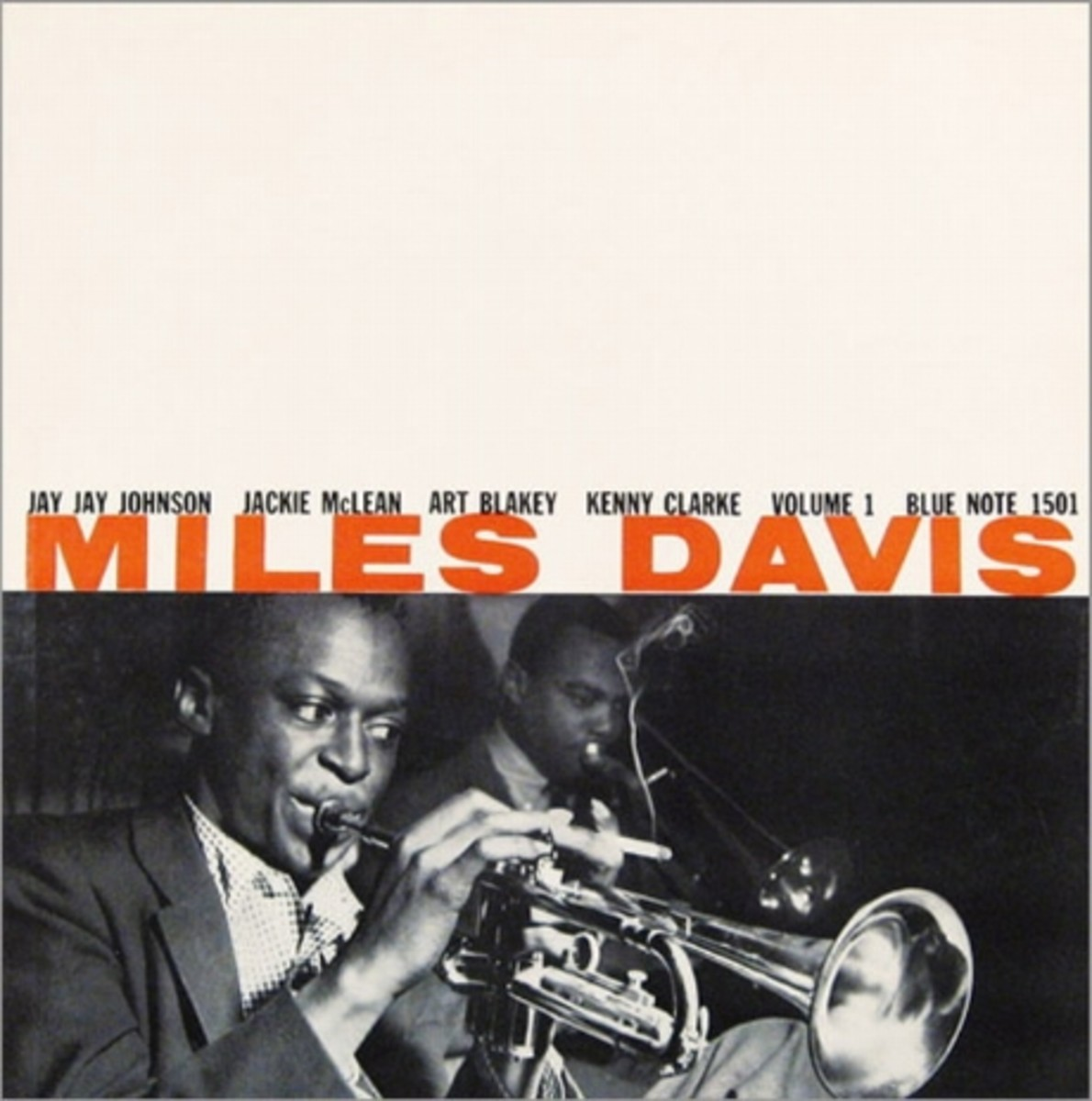 "Miles Davis, vol. 1 Blue Note Records BLP 1501 12"" LP Vinyl Record (1955)  Album Cover Design by John Hermansader,  Photo by Francis Wolff"