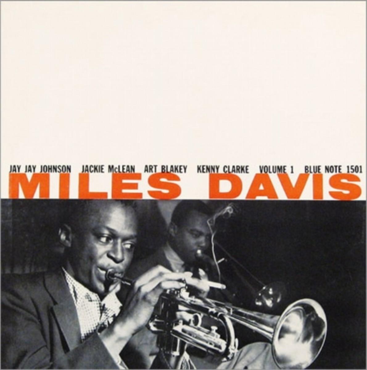 "Miles Davis, vol. 1 Blue Note Records BLP 1501 12"" LP Vinyl Record (1955)  Album Cover Design by John Hermansader,  Photo by Francis Wolff"
