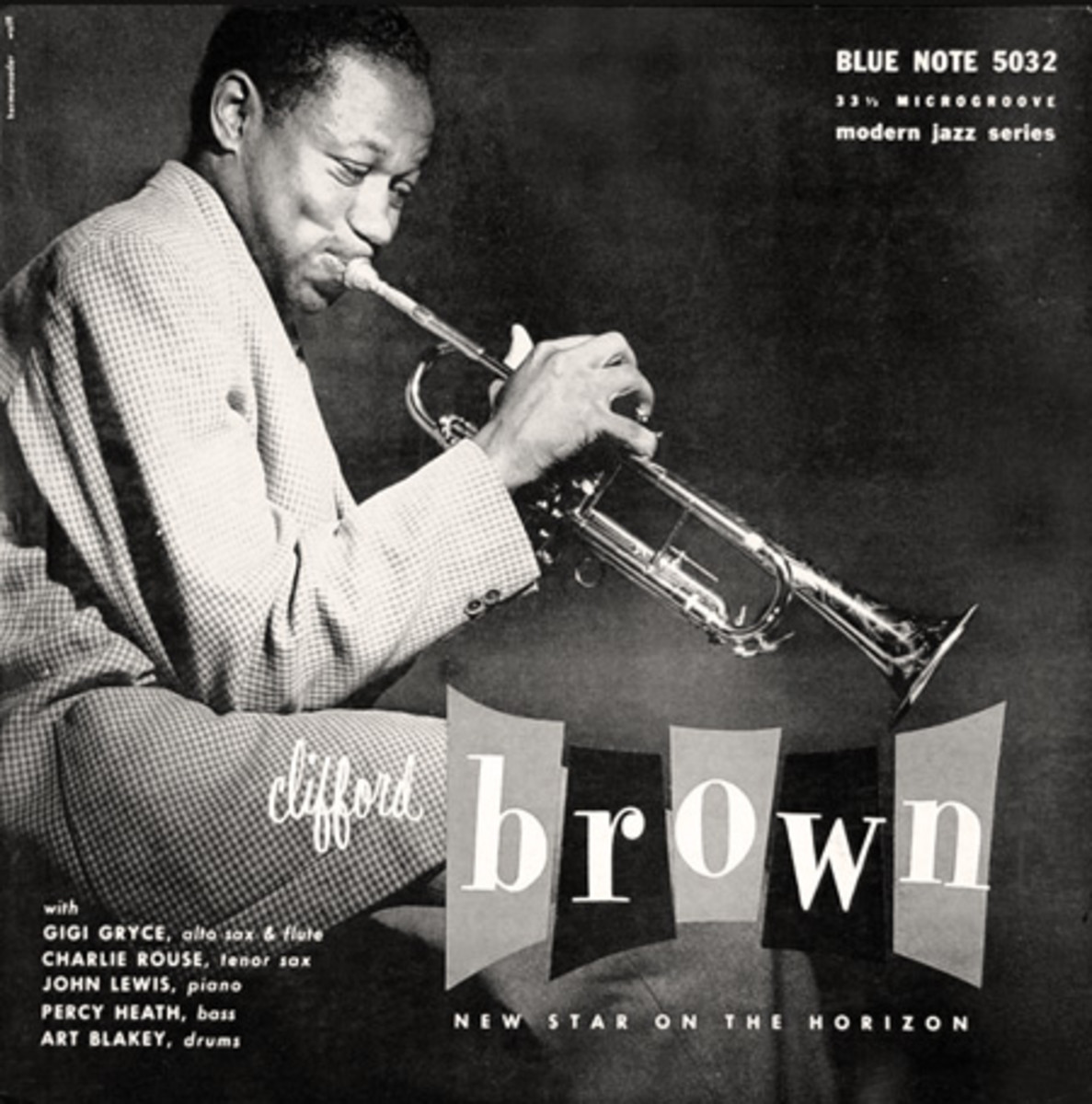 "Clifford Brown ""New Star on the Horizon"" Blue Note Records BLP 5032 10"" LP Vinyl Microgroove Record (1953) Album Cover Design by John Hermansader, Photo by Francis Wolff"