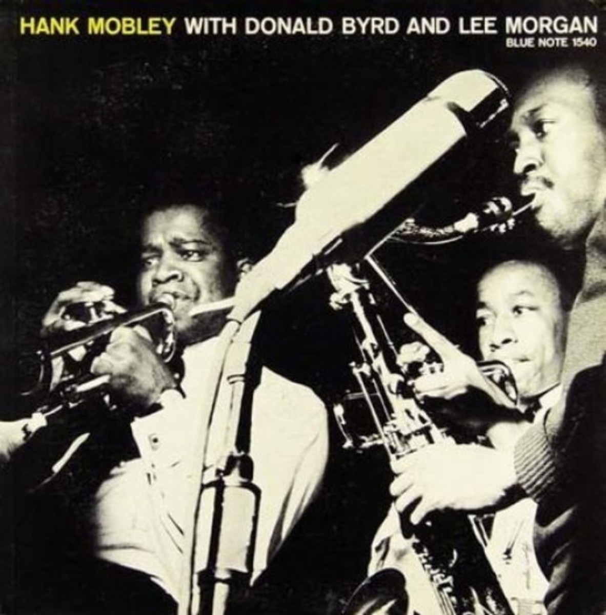 "Hank Mobley ""With Donald Byrd and Lee Morgan"" Blue Note Records BLP 1540 12"" Vinyl Record (1956) Album Cover Design by Reid Miles Photo by Francis Wolff"