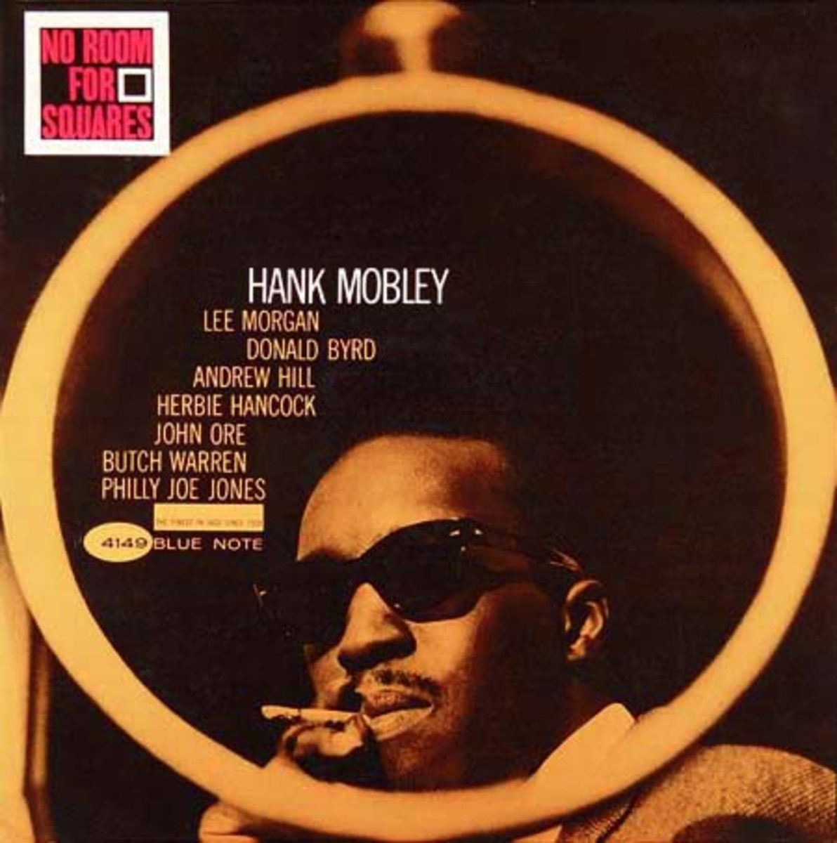 "Hank Mobley ""No Room for Squares"" Blue Note Records 4149 12"" LP Vinyl Record (1963) Album Cover Design by Reid Miles, Photo by Francis Wolff"
