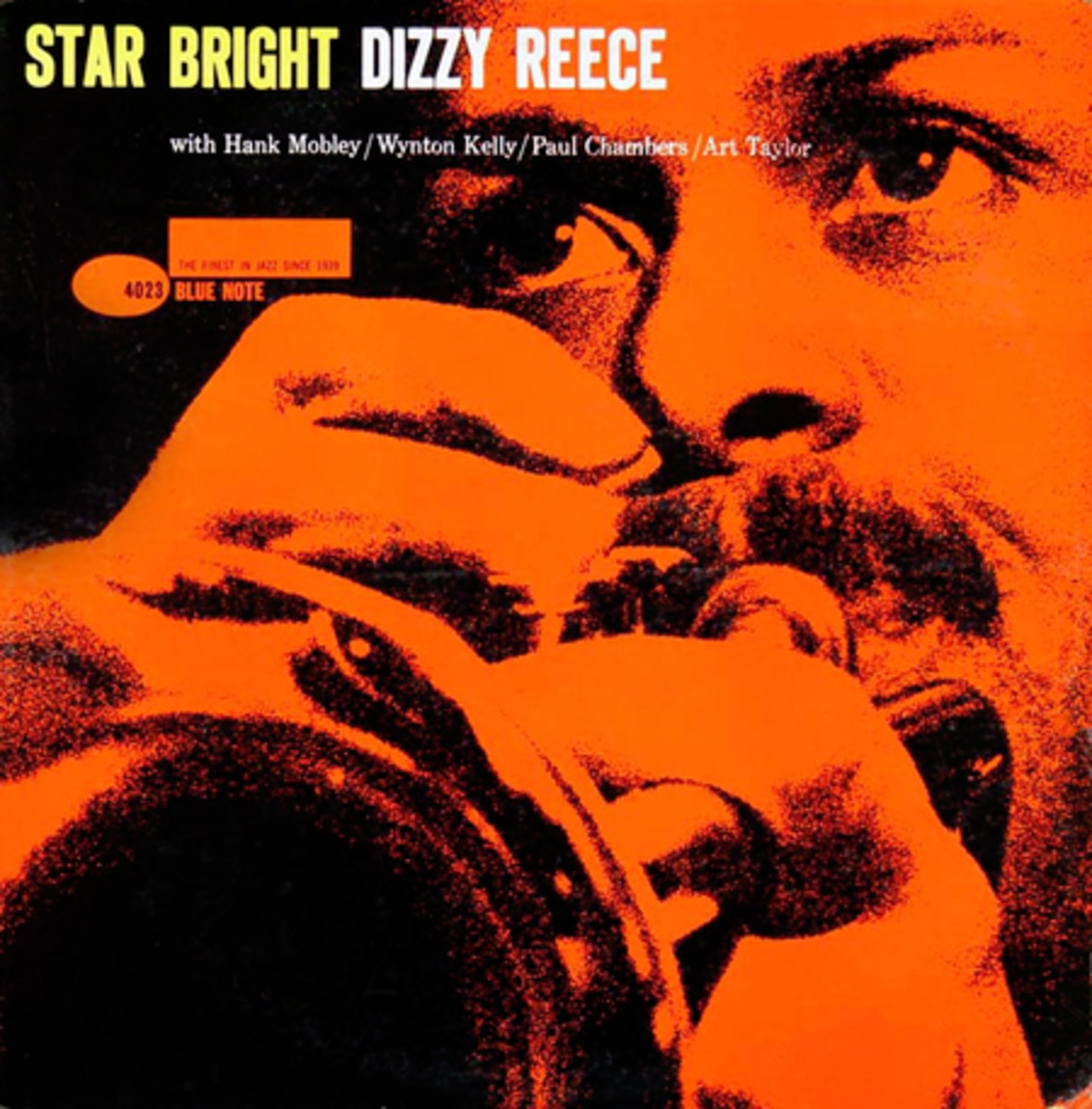 """Dizzy Reece """"Star Bright"""" Blue Note Records 4023 12"""" LP Vinyl Record (1959) Album Cover Design by Reid Miles Photo by Francis Wolff"""