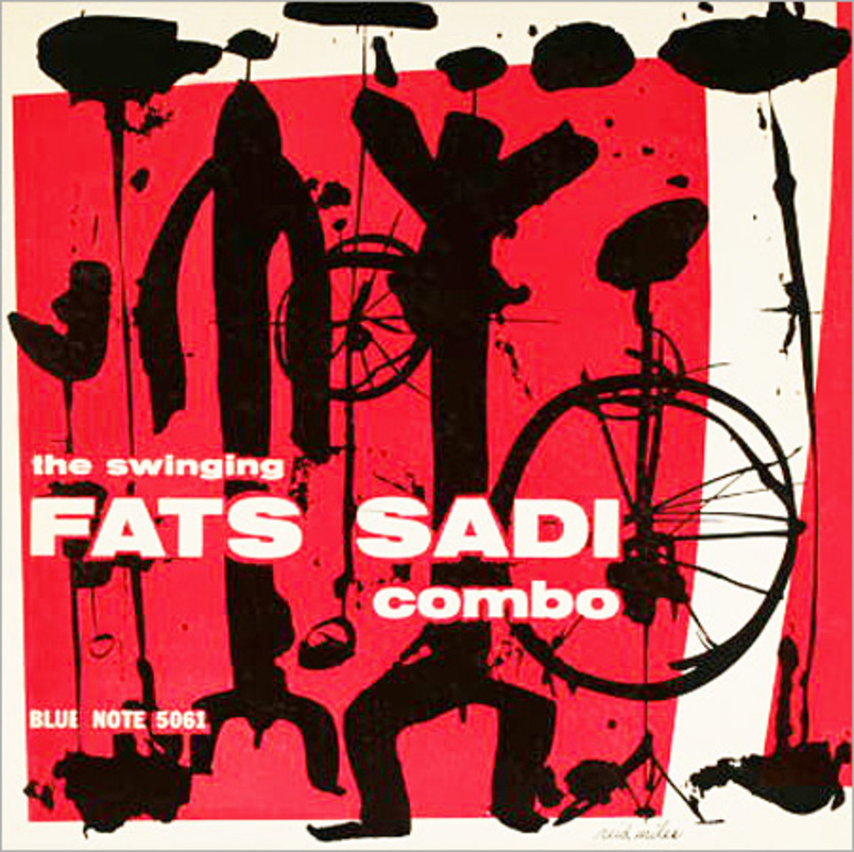 "Fats Sadi Combo ""The Swinging Fats Sadi"" Blue Note Records BLP 5061 10"" LP Vinyl Microgroove Record (1955) Album Cover Design by Reid Miles"