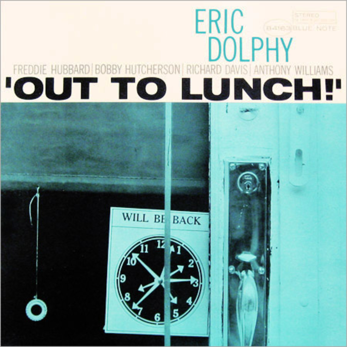 """Eric Dolphy """"Out To Lunch"""" Blue Note Records 4163 12"""" LP Vinyl Record (1964) Album Cover Design & Photo by Reid Miles"""