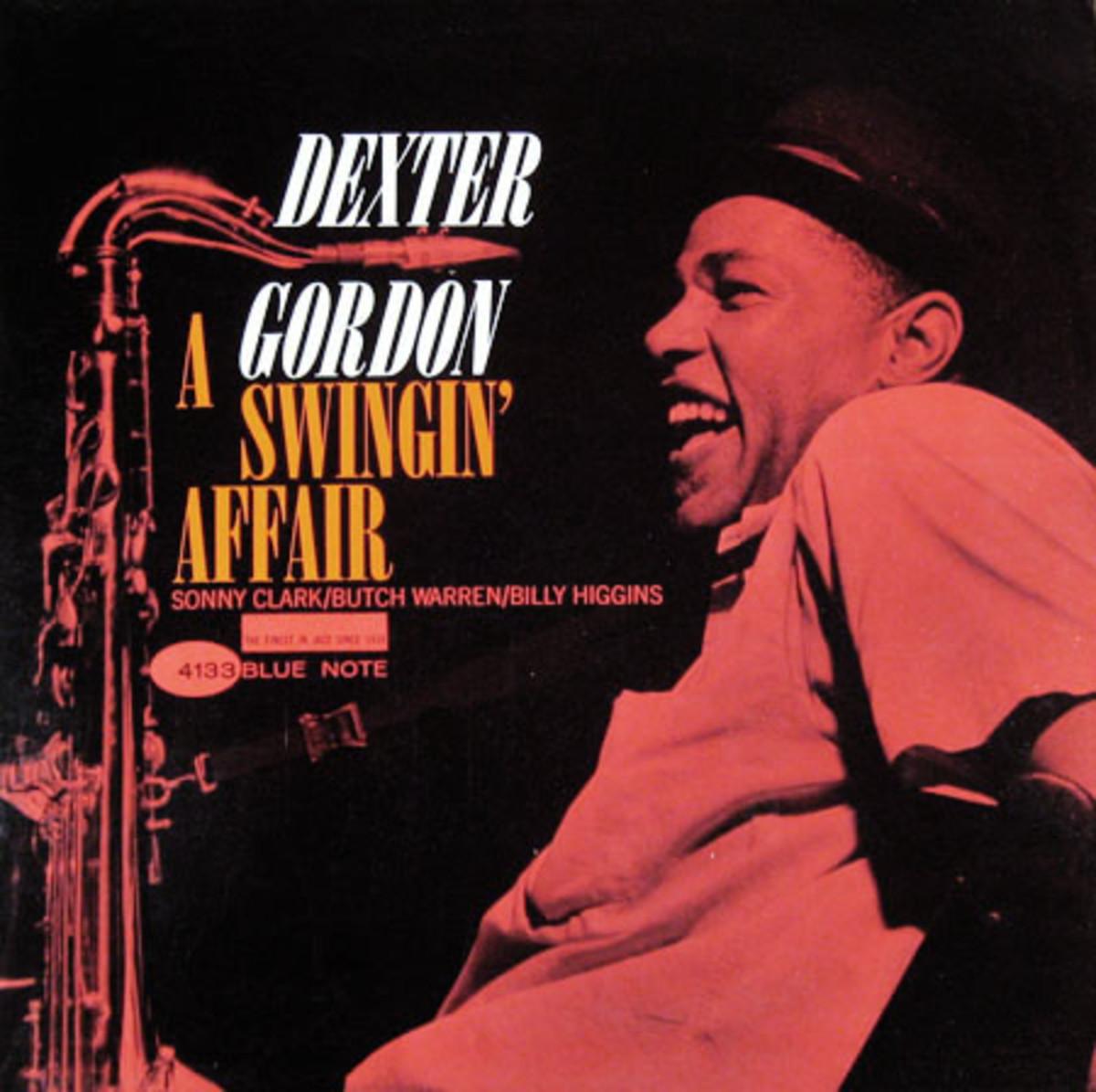 """Dexter Gordon """"A Swingin´ Affair"""" Blue Note 4133 12"""" LP Vinyl Record (1963) Album Cover Design by Reid Miles, Photo by Francis Wolff"""