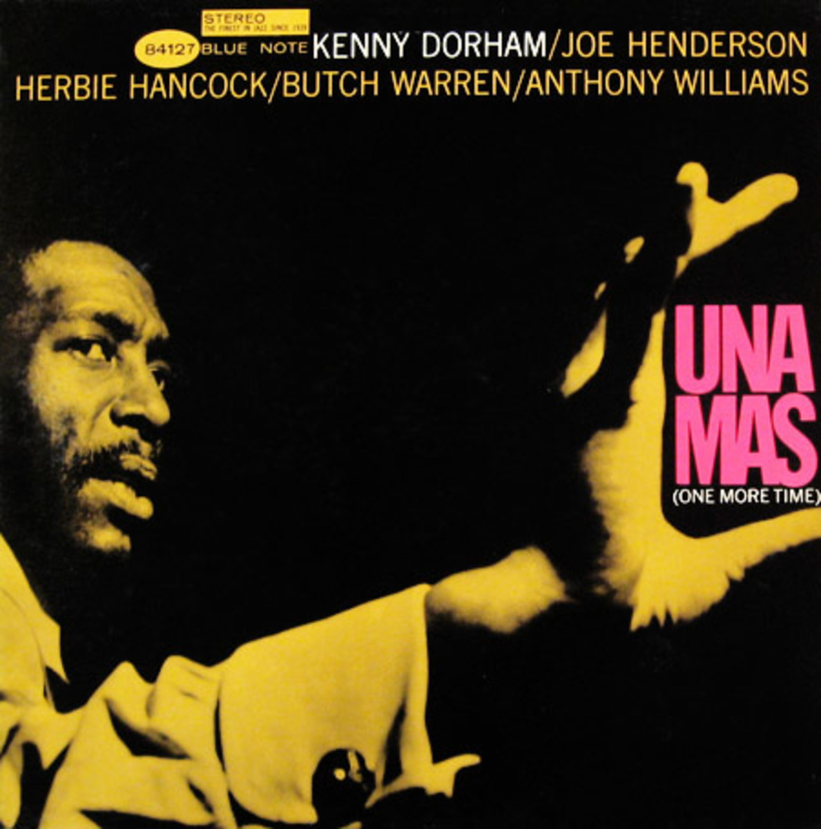 "Kenny Dorham ""Una Mas"" Blue Note Records 4127 12"" LP Vinyl Record (1963) Album Cover Design by Reid Miles, Photo by Francis Wolff"
