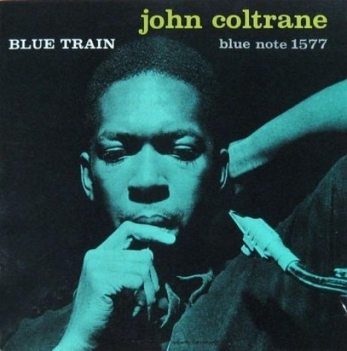 "John Coltrane ""Blue Train"" Blue Note Records BLP 1577 12"" LP Vinyl Record (1957) Album Cover Design by Reid Miles Photo by Franciss Wolff"