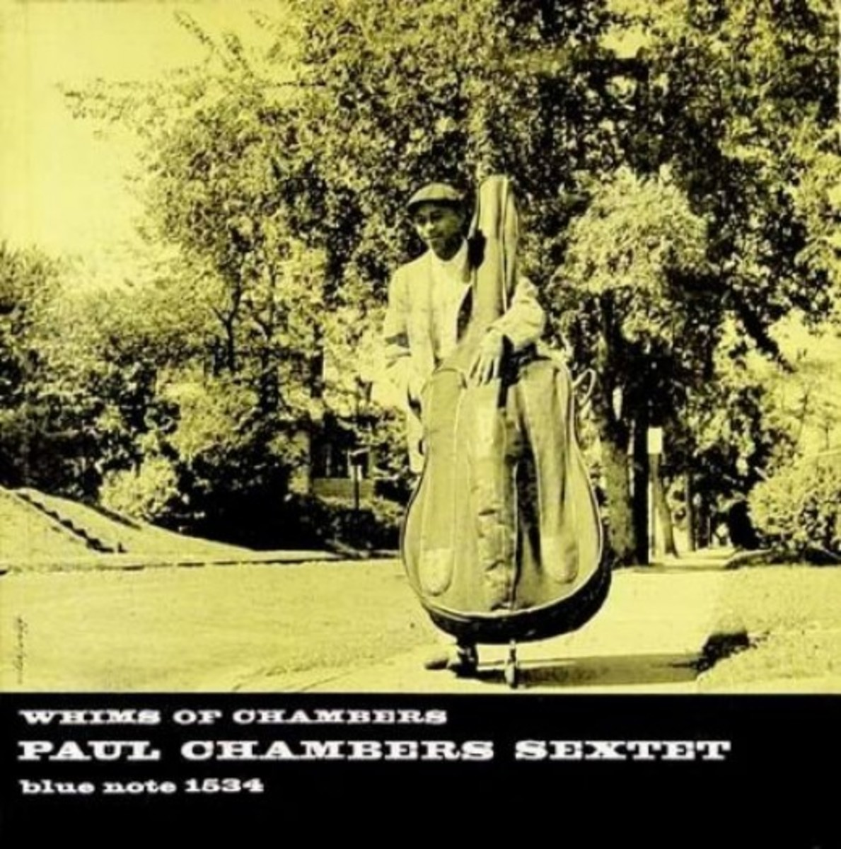 "Paul Chambers ""Whims of Chambers"" Blue Note Records BLP 1534 12"" LP Vinyl Record (1956) Album Cover Design by Reid Miles Photograph by Francis Wolff"