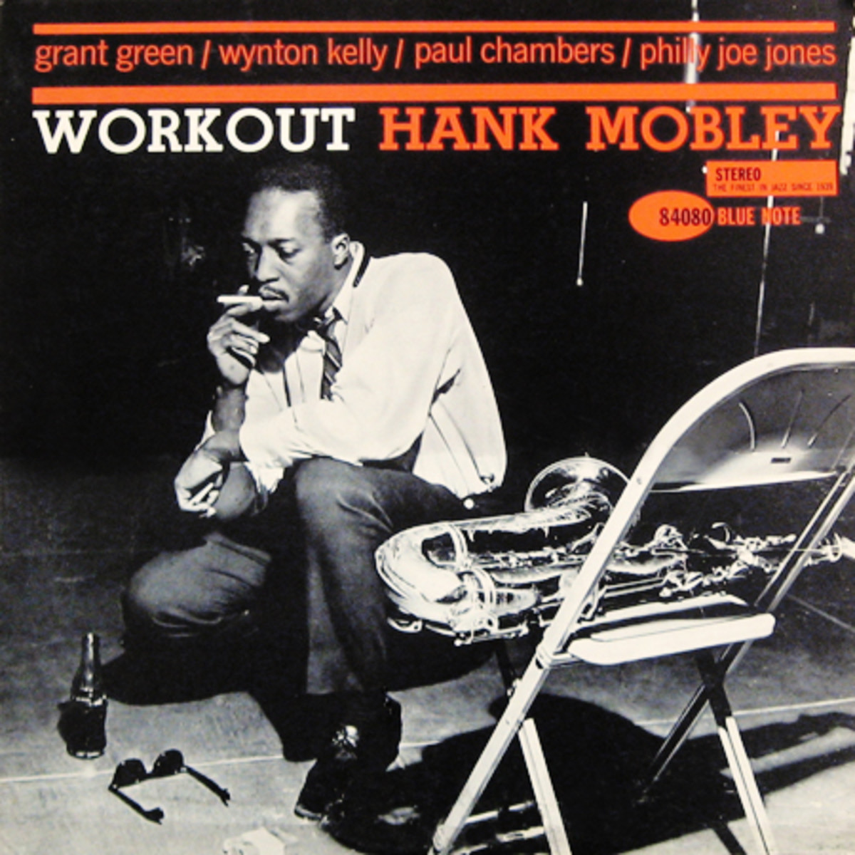 """Hank Mobley """"Workout"""" Blue Note Records 4080 12"""" LP Vinyl Record (1961) Album Cover Design by Reid Miles, Photo by Francis Wolff"""