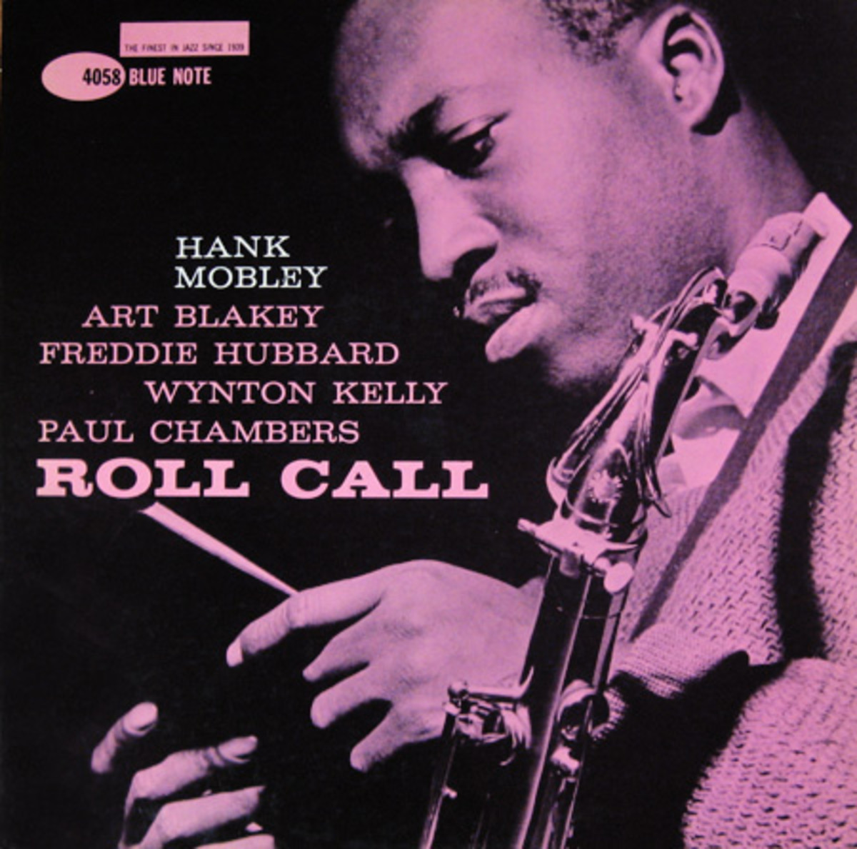 """Hank Mobley """"Roll Call"""" Blue Note Records 4058 12"""" LP Vinyl Record (1961) Album Cover Design by Reid Miles, Photo by Francis Wolff"""