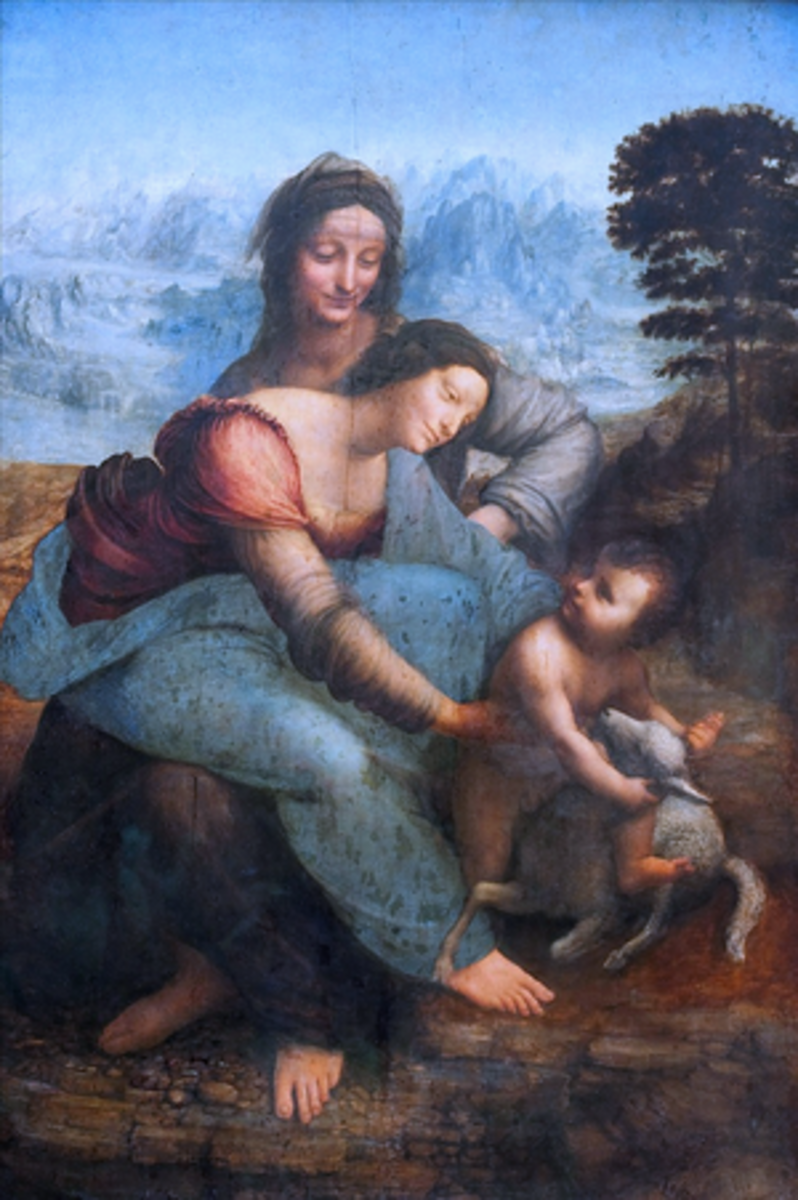 St. Anne with Mary and infant Jesus