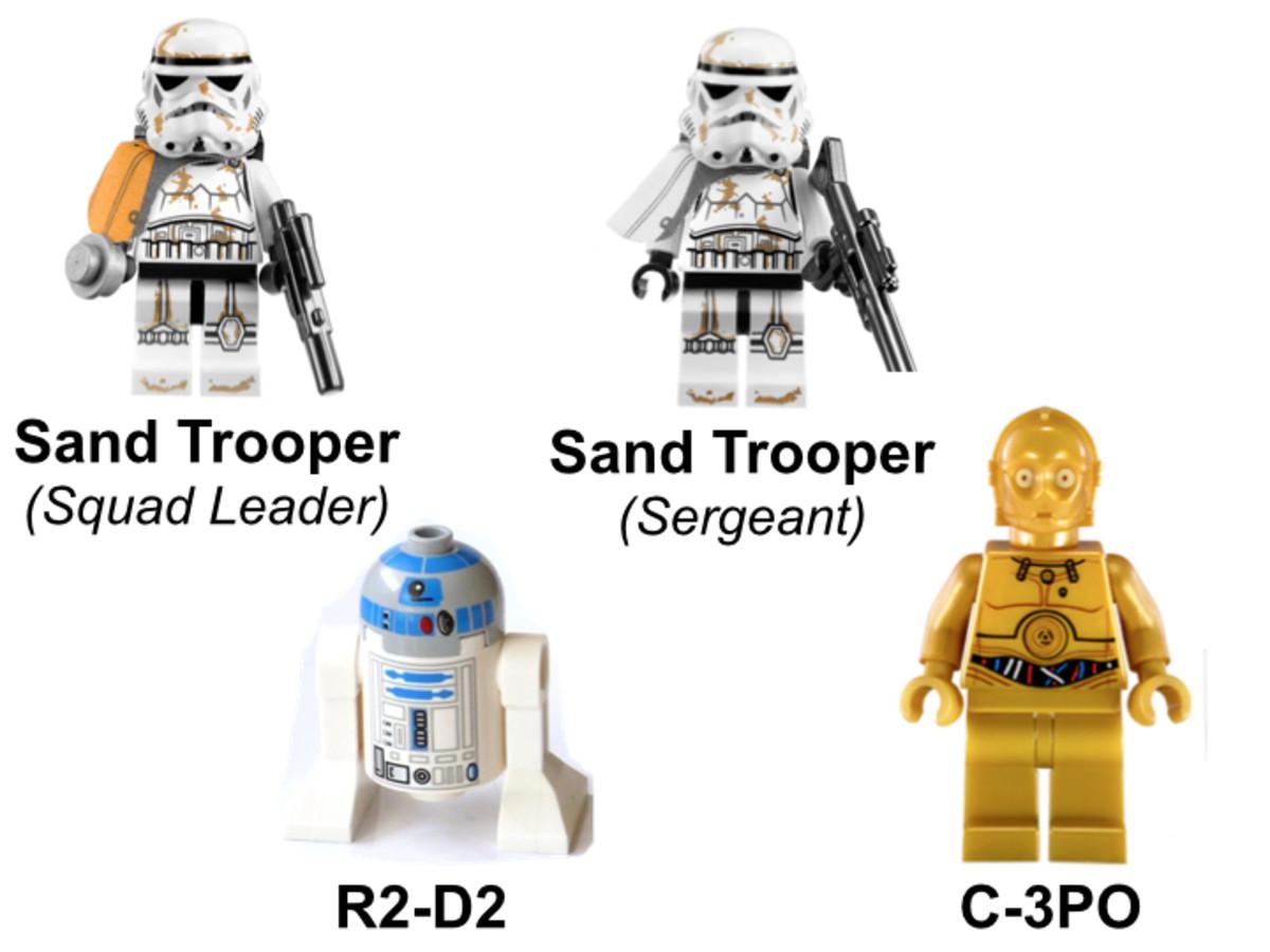 LEGO Star Wars Droid Escape 9490 Minifigures