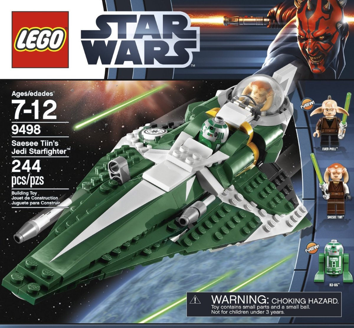 LEGO Star Wars Saesee Tiin's Jedi Starfighter 9498 Box