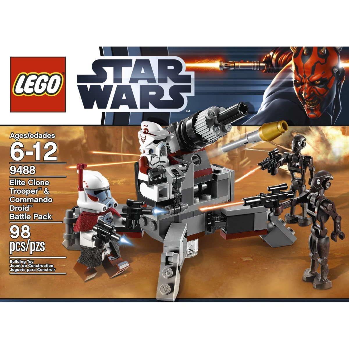 LEGO Star Wars Elite Clone Trooper & Commando Droid Battle Pack 9488 Box