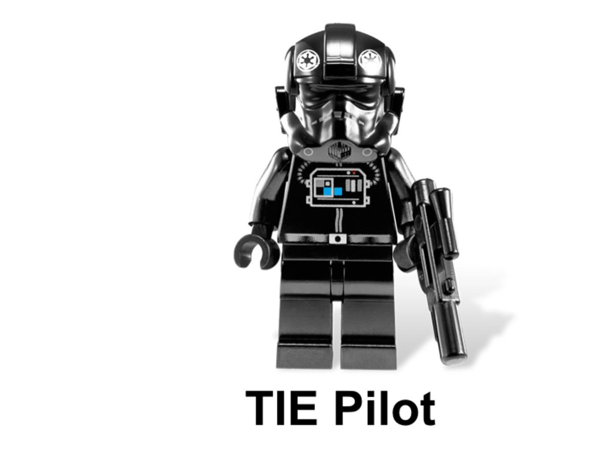 LEGO Star Wars TIE Interceptor & Death Star 9676 TIE Pilot Minifigure