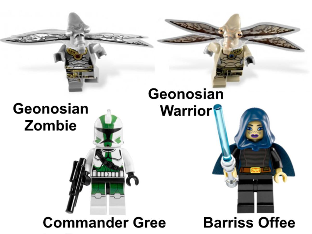 LEGO Star Wars Geonosian Cannon 9491 Minifigures
