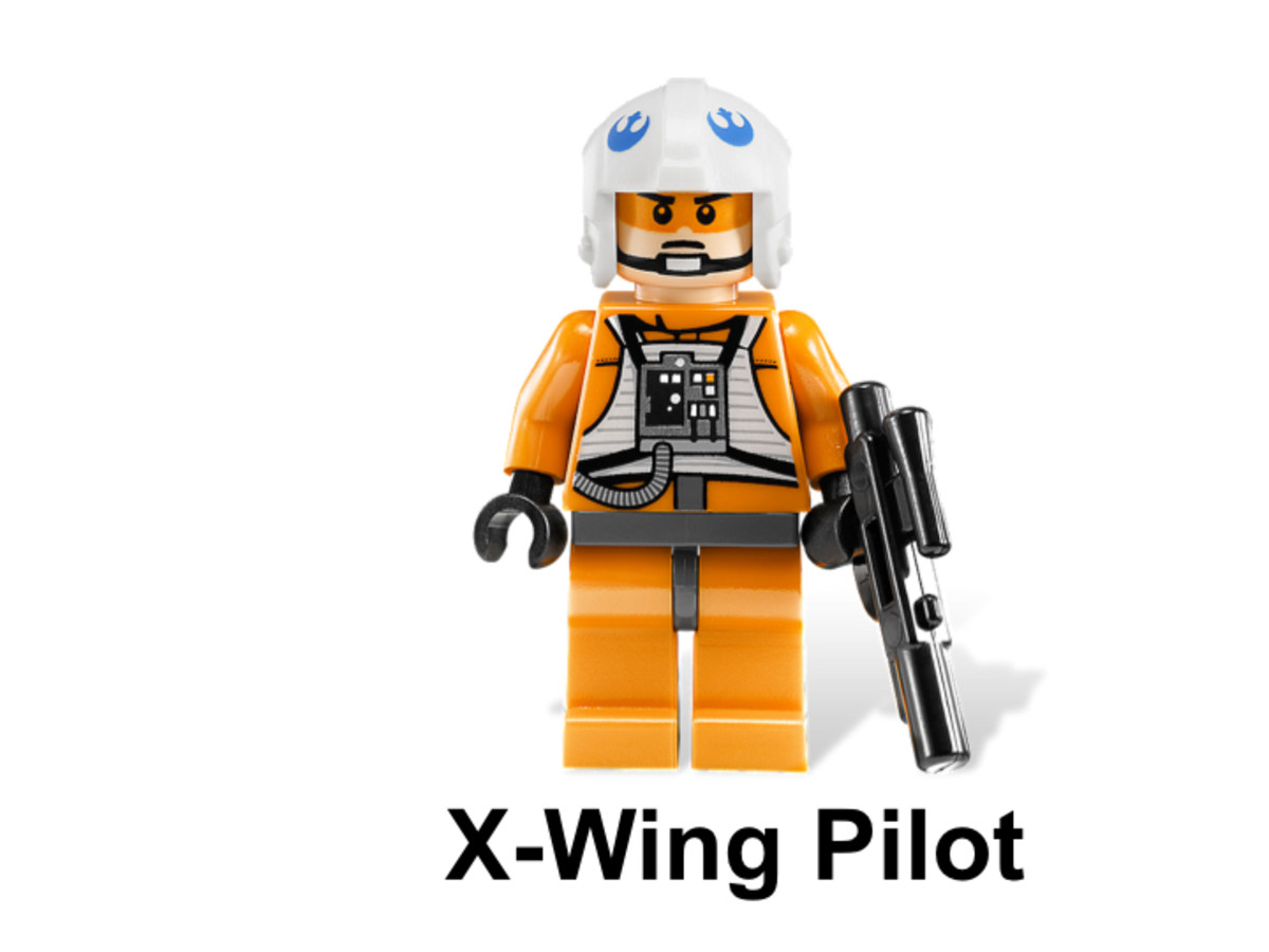 LEGO Star Wars X-Wing Starfighter & Yavin 9677 Rebel Pilot Minifigure