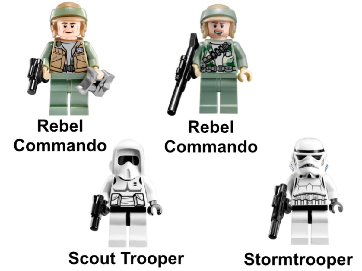 LEGO Star Wars Endor Rebel Trooper & Imperial Trooper Battle Pack 9489 Minifigures