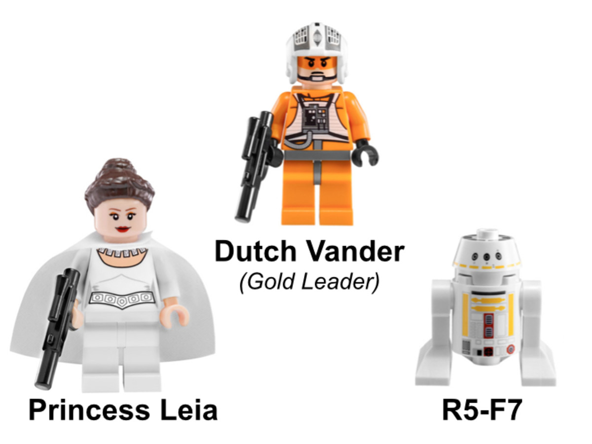 LEGO Star Wars Gold Leader's Y-Wing Starfighter 9495 Minifigures