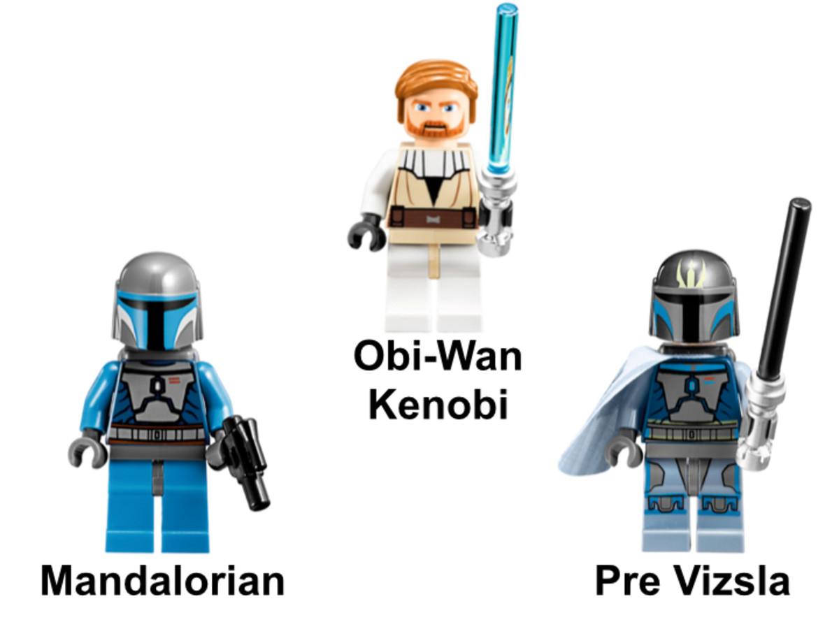 LEGO Star Wars Pre Vizsla's Mandalorian Fighter 9525 Minifigures