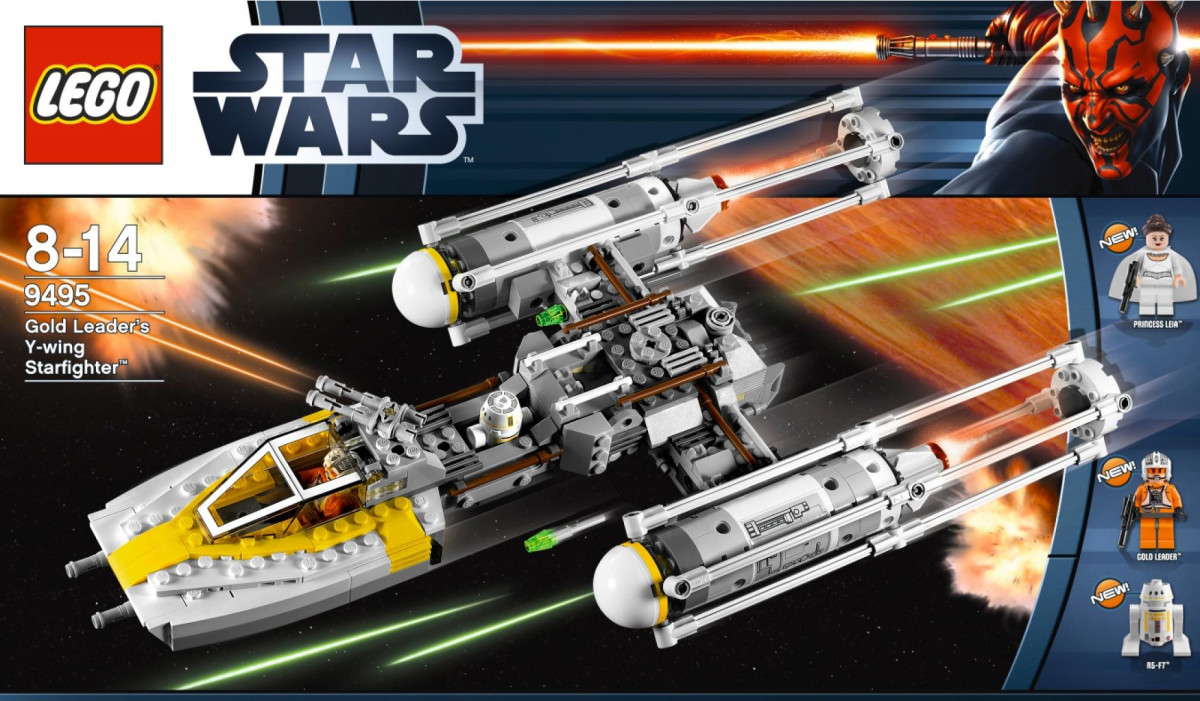 LEGO Star Wars Gold Leader's Y-Wing Starfighter 9495 Box