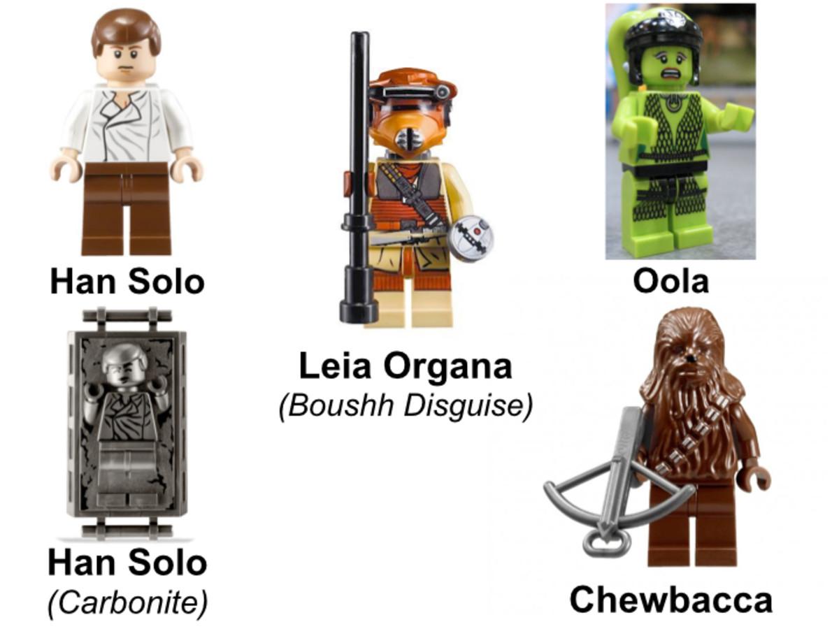 LEGO Star Wars Jabba's Palace 9516 Hero Minifigures