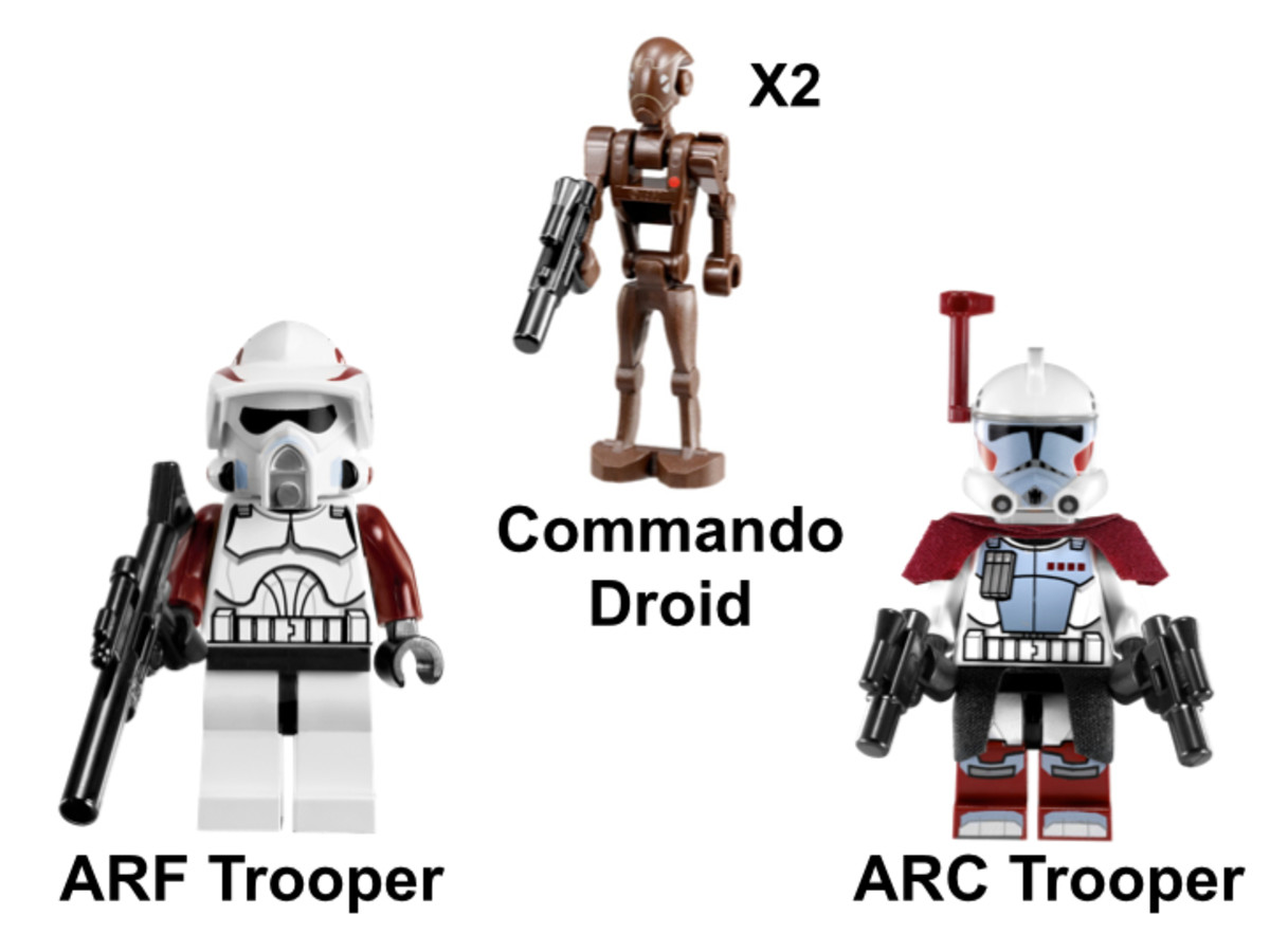 LEGO Star Wars Elite Clone Trooper & Commando Droid Battle Pack 9488 Minifigures