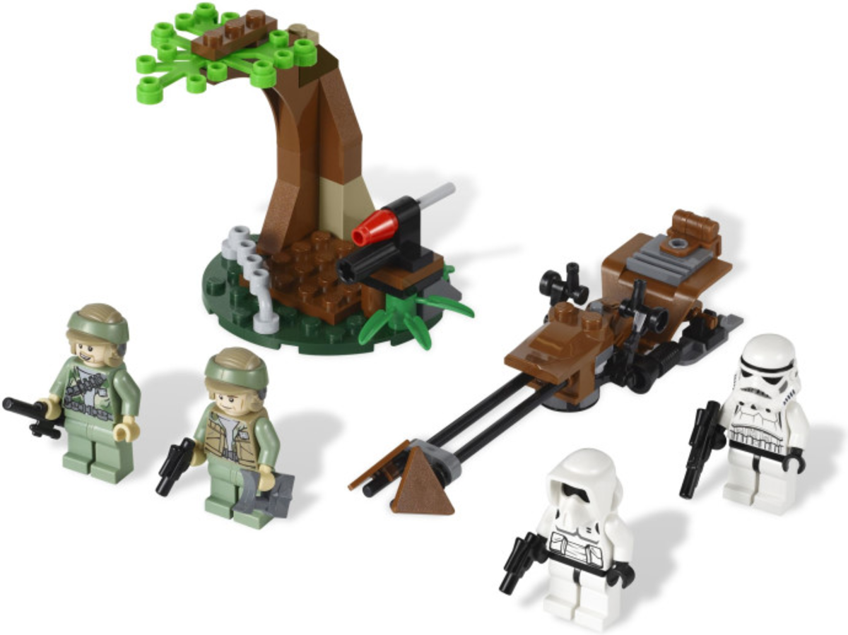 LEGO Star Wars Endor Rebel Trooper & Imperial Trooper Battle Pack 9489 Assembled