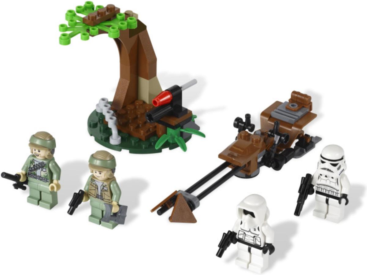 LEGO Star Wars Endor Rebel Trooper & Imperial Trooper Battle Pack 9489 Assembled