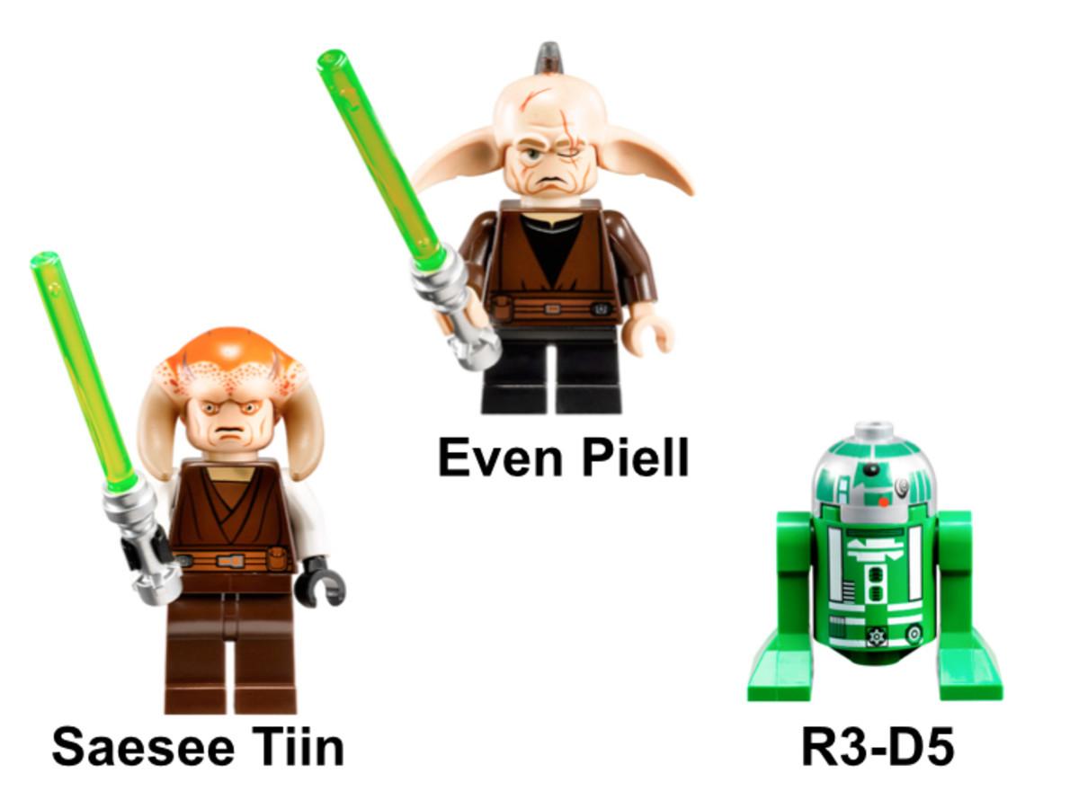 LEGO Star Wars Saesee Tiin's Jedi Starfighter 9498 Minifigures