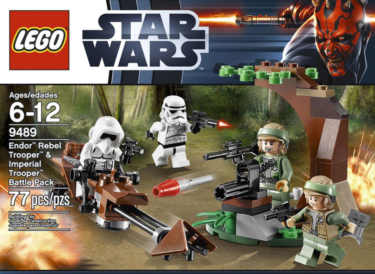 LEGO Star Wars Endor Rebel Trooper & Imperial Trooper Battle Pack 9489 Box