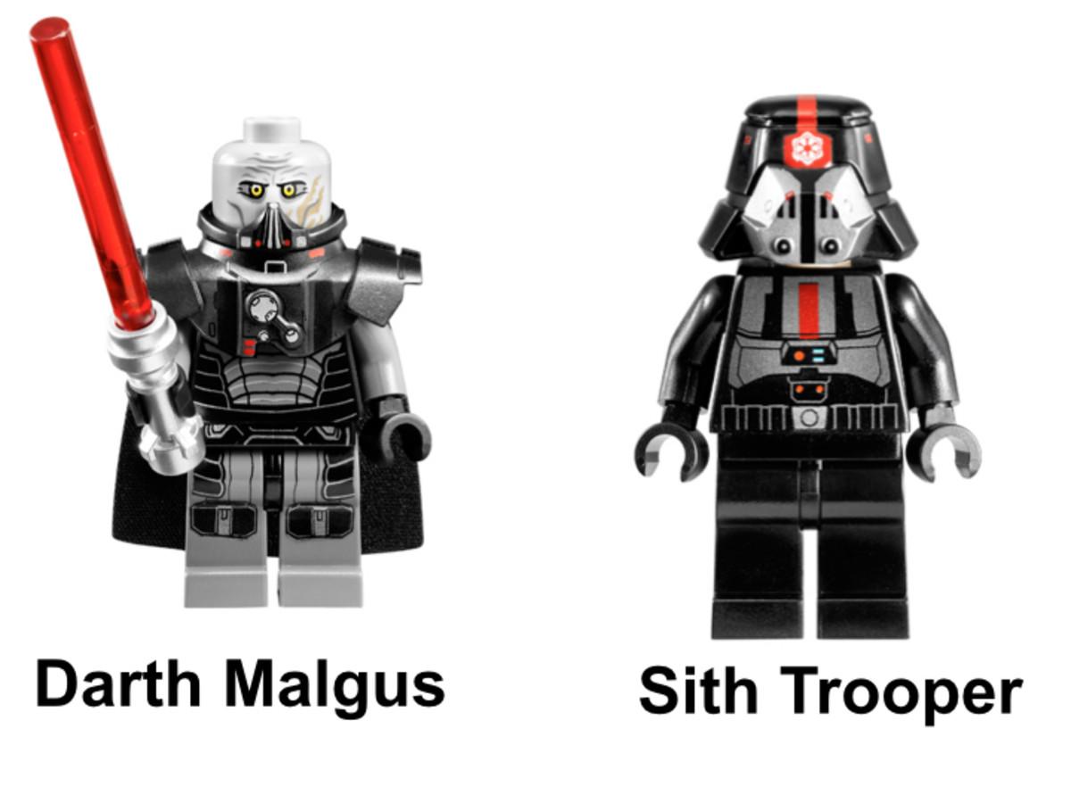 LEGO Star Wars Sith Fury-Class Interceptor 9500 Minifigures