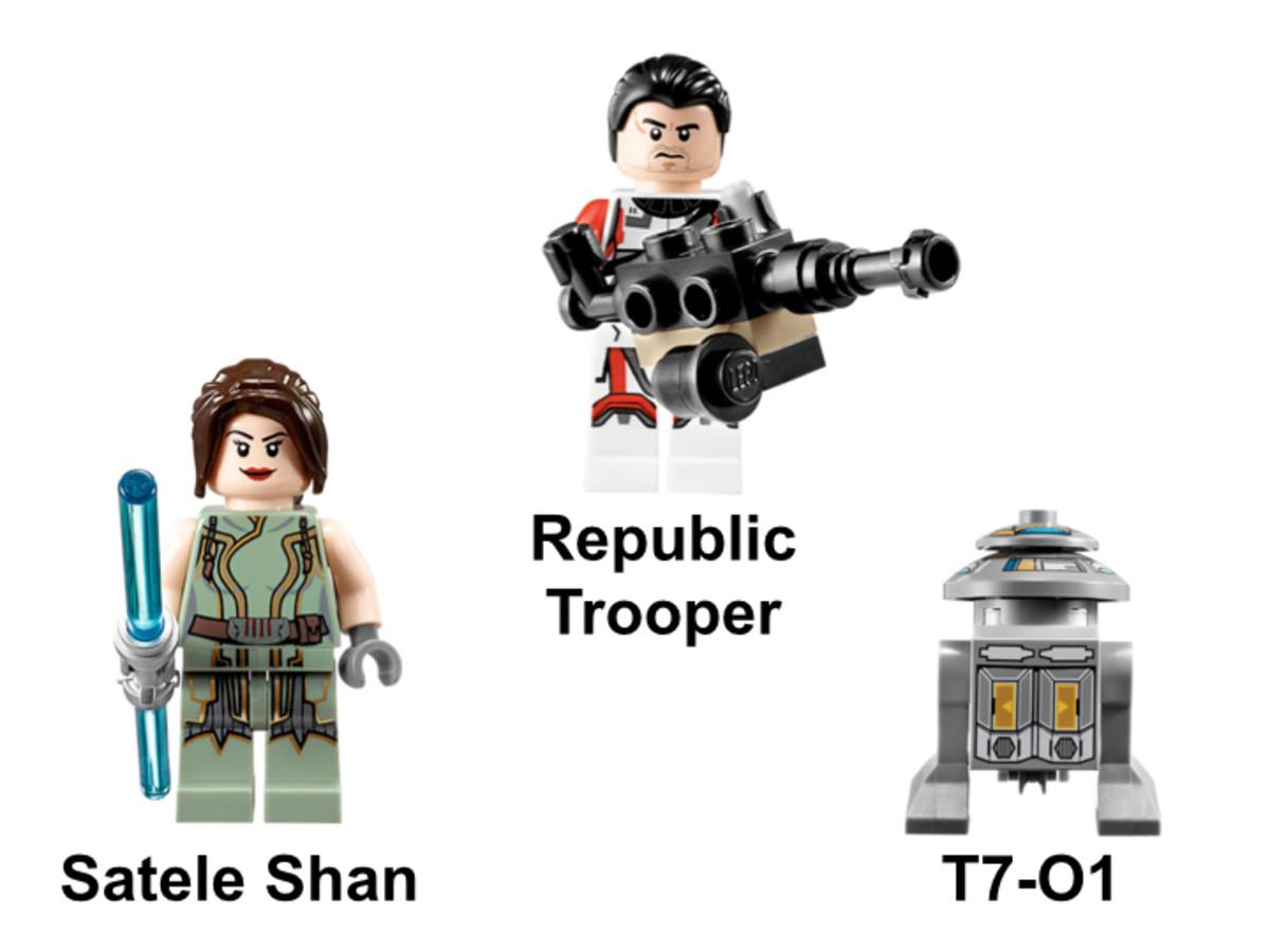LEGO Star Wars Republic Striker Starfighter 9497 Minifigures
