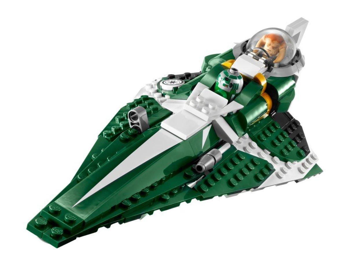 LEGO Star Wars Saesee Tiin's Jedi Starfighter 9498 Assembled