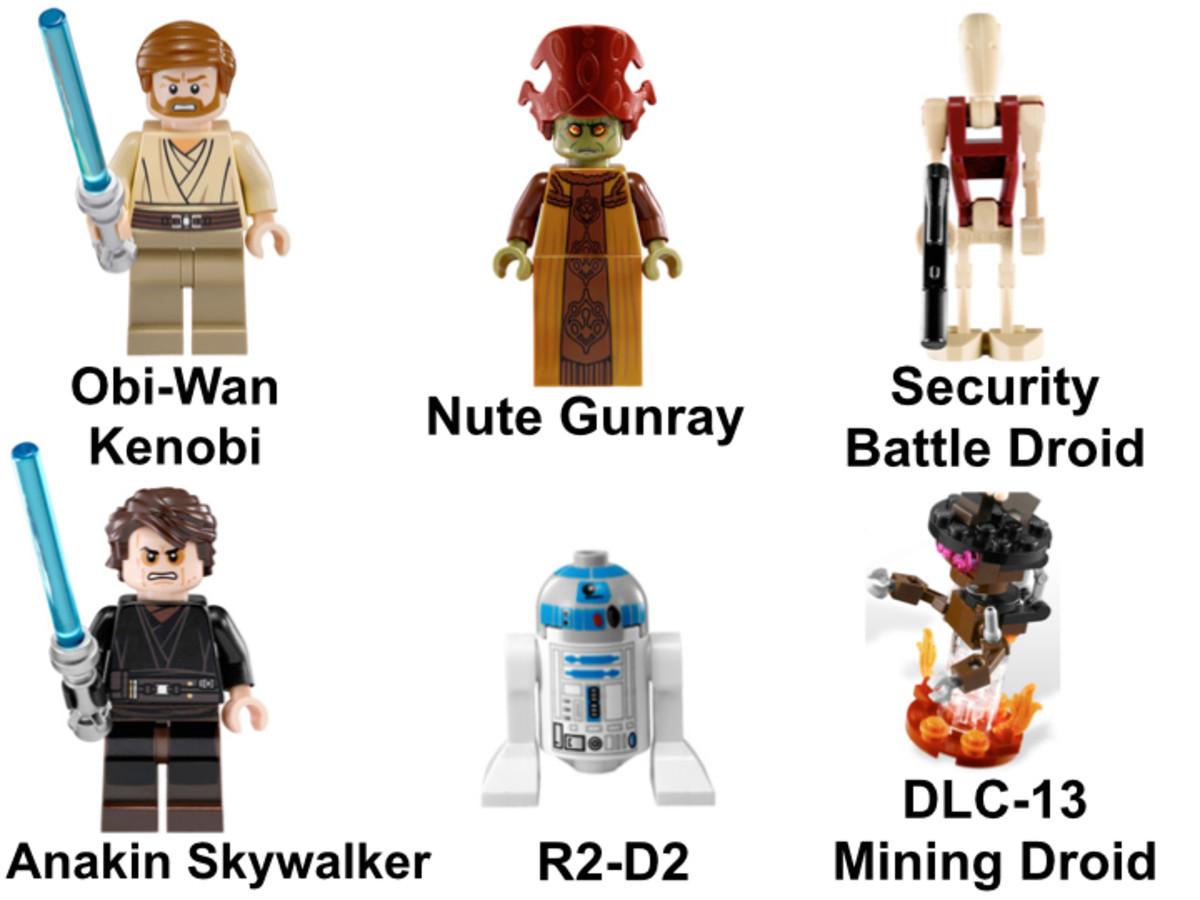 LEGO Star Wars Anakin's Jedi Interceptor 9494 Minifigures