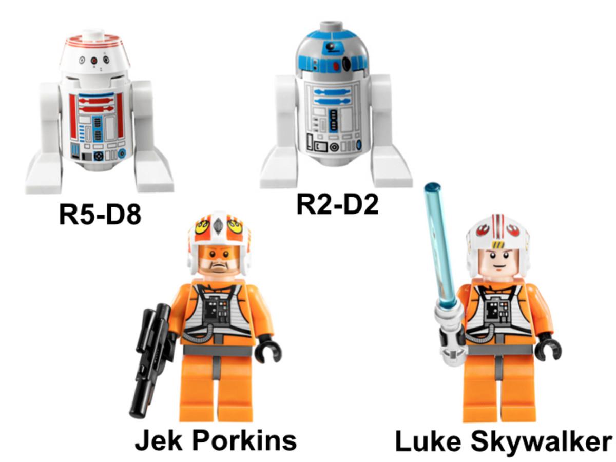 LEGO Star Wars X-Wing Starfighter 9493 Minifigures