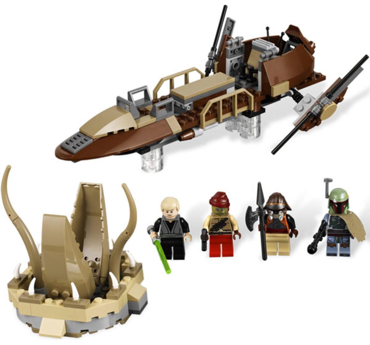 LEGO Star Wars Desert Skiff 9496 Assembled