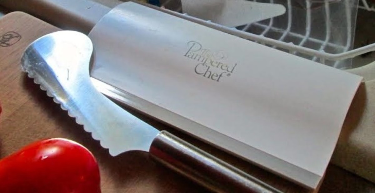 Tomatoe Knife and Pampered Chef Scrapper For Vegetables