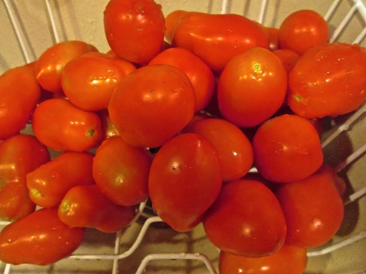 Clean Roma Tomatoes.