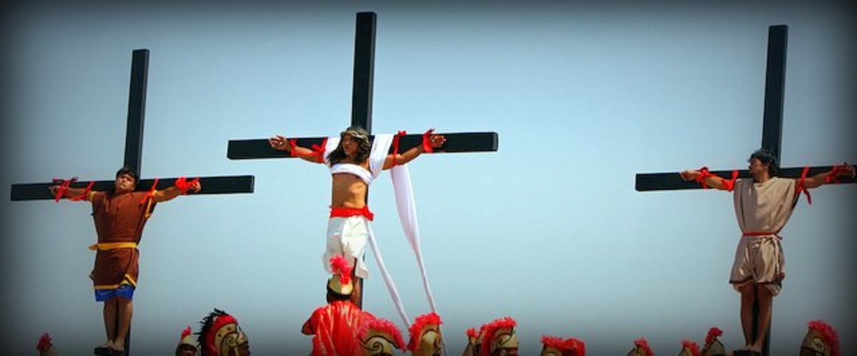 The annual re-enactment of Christ's crucifixion on Holy Friday at the Pampanga Province in the Philippines