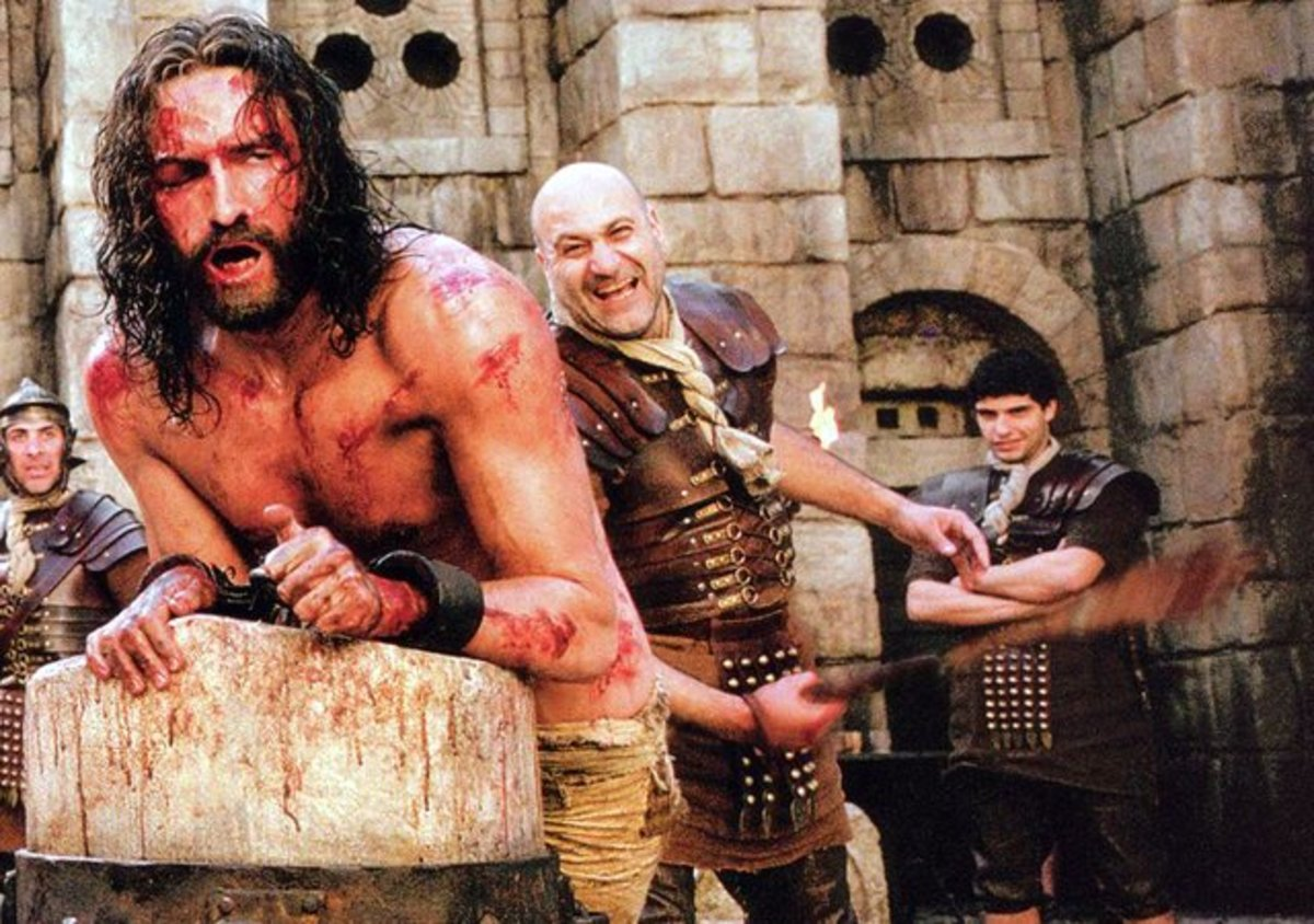 The Flagellation of Christ in Mel Gibson's controversial film The Passion of the Christ