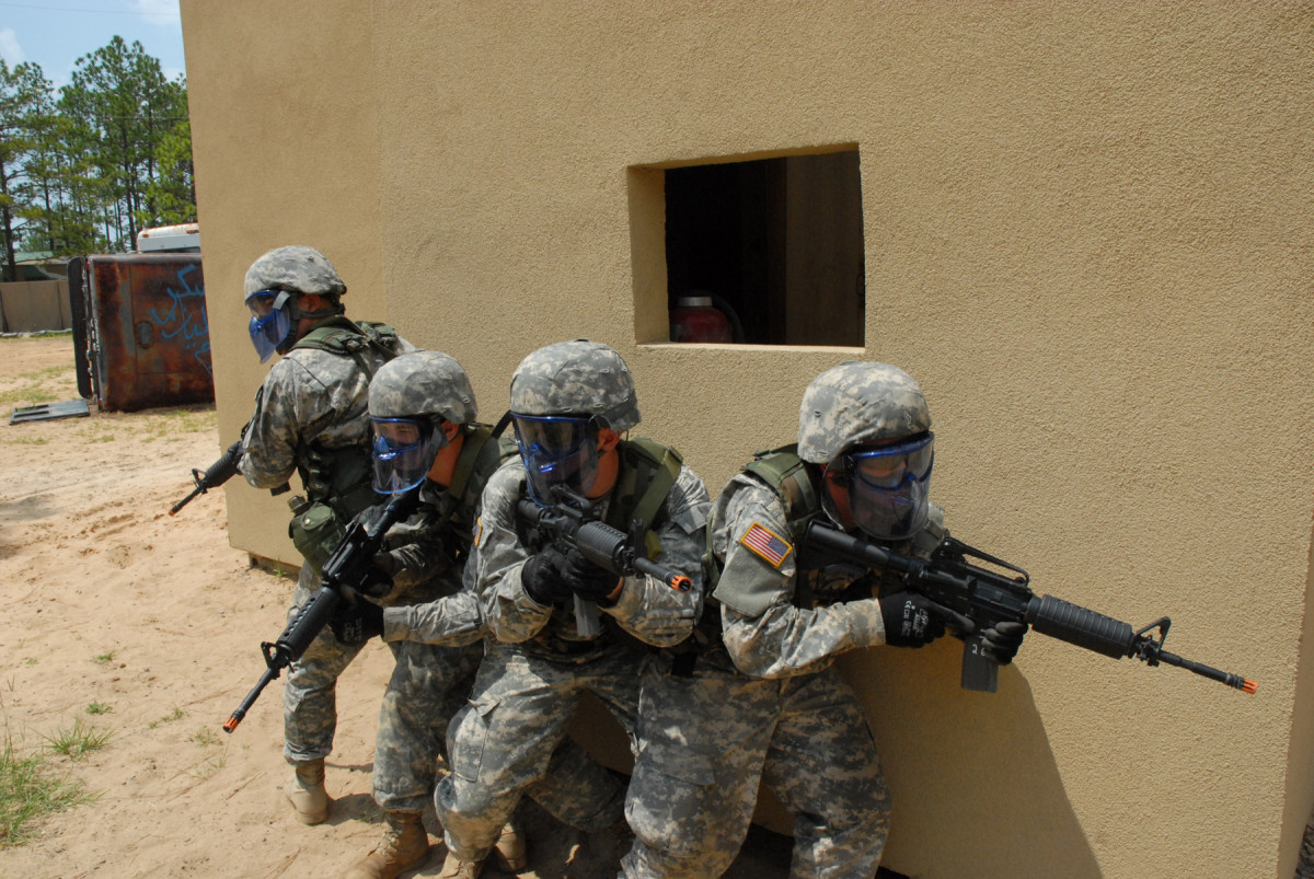 US Army Training With Airsoft Guns
