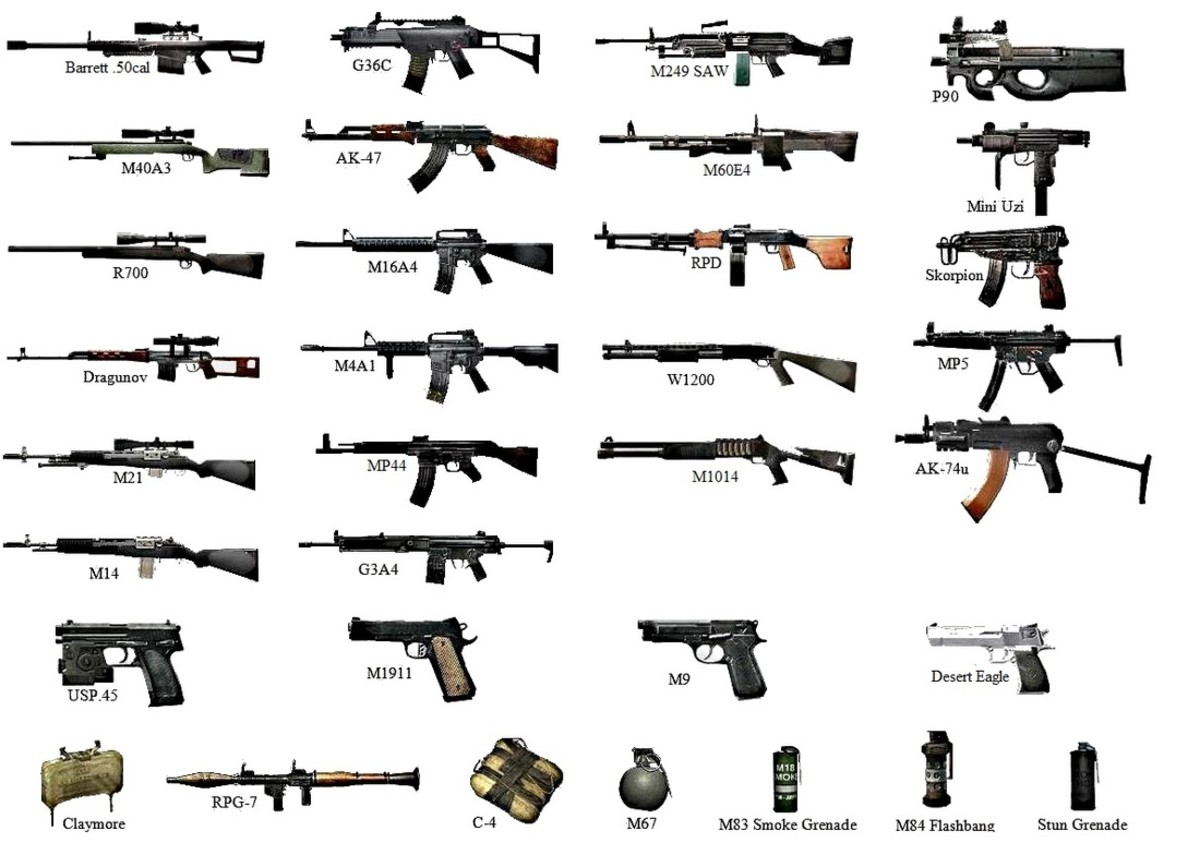 Different Types of Guns Names Different Types of Gun